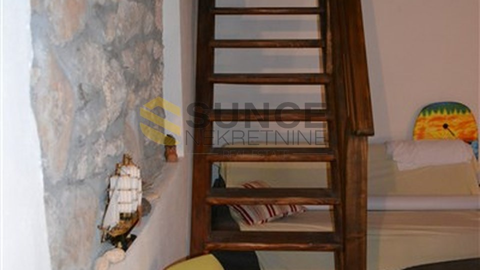 Island of Krk, renovated old house in a row of 80m2