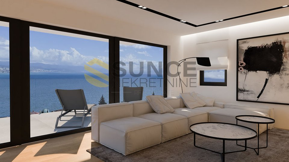 OPATIJA, luxury apartment with open sea view!