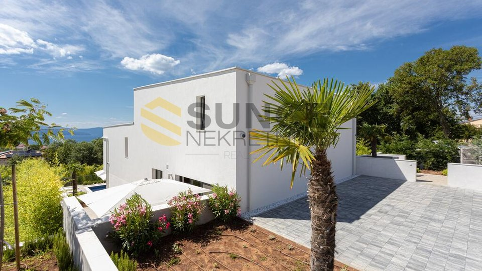 Malinska, luxury villa with pool, beautiful sea view. Top quality construction!