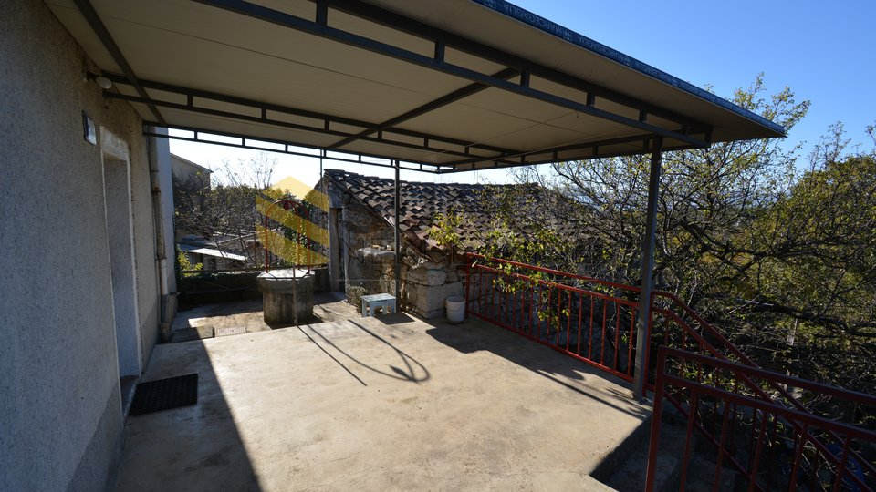 Krk detached old stone house with open views!