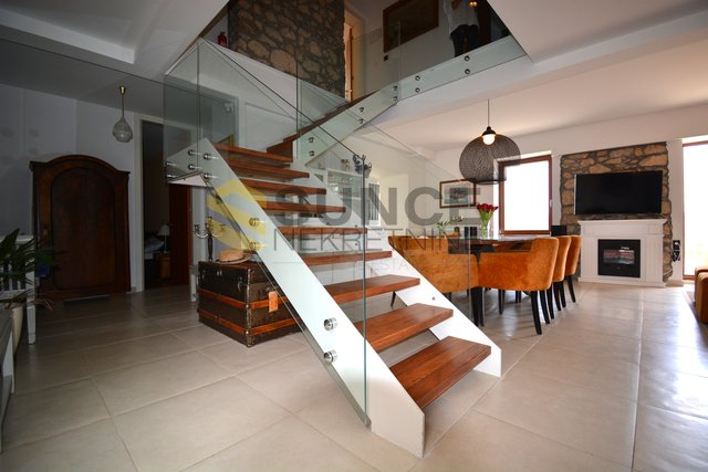 Dobrinj, fully furnished stone villa with panoramic sea view!