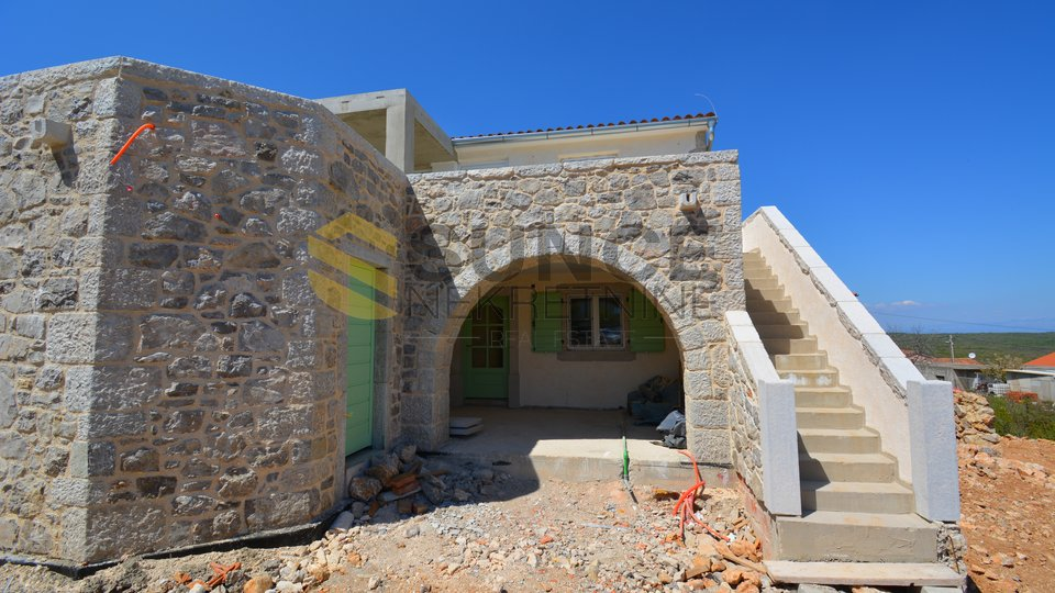 The island of Krk, the town of Krk, new stone villa of 239m2 with pool!