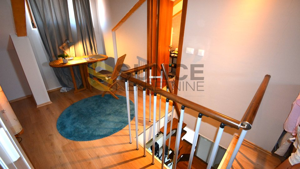 The island of Krk, Malinska, beautifully decorated apartment of 84m2 on two floors, 300 m from the sea!